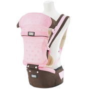Aivtalk Baby Carrier Soft Structured Soft Hip Seat Headphone Port and Hood- Pink