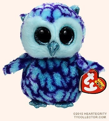 462a13a3b7b New TY Beanie Boos Cute OSCAR the Blue   Purple Owl Plush Toys 6 ...