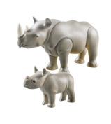 Playmobil - Zoo Theme - Rhino with Baby