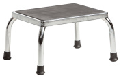 Secure Heavy Duty Footstool with Non Skid Rubber Platform, Chrome Plated