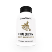 Coral Calcium Powder With Added Vitamin D3 - Mined from an Above Ground Source with No Proprietary Blends - 60 Capsules