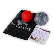 #1 BEST Spiky Massage Balls Reflexology Foot Body Arm Pain Stress Relief Trigger Point Sport Hand Exercise Muscle Relief shoulder Plantar Fasciitis Back Pain Deep Tissue Massage Physical Therapy