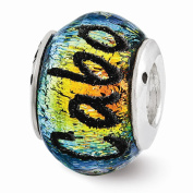 Best Birthday Gift Sterling Silver Reflections Cabo Dichroic Glass Bead