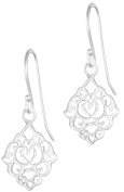 .925 Sterling Silver Hypoallergenic French Wire Filigree Dangle Earrings for Women