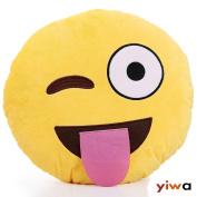 1 X Ciamlir Soft Emoji Smiley Emoticon Yellow Round Cushion Pillow Stuffed Plush Toy Doll