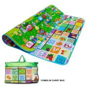 Kids Crawling Educational 2 Side Play Mat Game Soft Foam Picnic Carpet 200X180cm