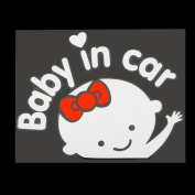 "Catuo Cartoon Car Stickers Reflective Styling ""Baby In Car"" Warming Car Sticker"