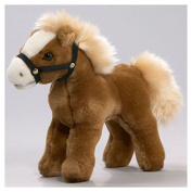 Soft Toy Horse standing grey-brown 17cm. [Toy]