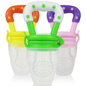 JLong Baby Food Feeder Silicone Dummies Pacifier Soother Nipples Feeding Tool Bite Gags