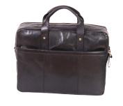 Real Leather Briefcase For Mens Messenger Laptop Satchel Bag BENNETT Black