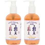 2 x Earth Friendly Kids® Children Hand Wash Handwash with Natural Certified ORGANIC Ingredients 250ml
