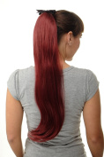 WIG ME UP ® Hairpiece PONYTAIL (comb & ribbon wrap-around system) extension full volume long (65 cm) straight aubergine red D13001-39