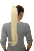WIG ME UP ® Hairpiece PONYTAIL (comb & ribbon wrap-around system) extension full volume long (65 cm) straight medium bright blond platinum D13001-613