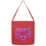 Twisted Envy Elephant Flower Power Tote Bag