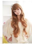 X & Y ANGEL New Fashion Ladies' Fluffy Personality Kanekalon Long Wavy Human Hair Wig Wigs Light Brown XY011 (light brown) by X & Y ANGEL