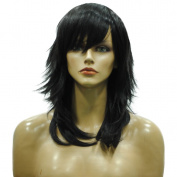 Namecute Natural Straight Black Wig for Women