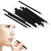 Internet 100PCS Disposable MakeUp Lip Brush Lipstick Gloss Wands Applicator Make Up Tools