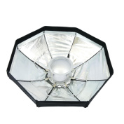 Beauty dish silver 8rods reflector6 80cm for studio lighting. - Cablematic