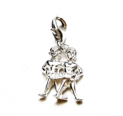 Solid Sterling 925 Silver Charm - Astrology Zodiac Sign - Gemini
