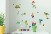 Wall Deco Stickers Home/Room Art Decals Frog