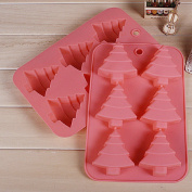 Christmas Tree Shape Cake Muffin Chocolate Baking Mould Tool Diy Kitchen Silicone colour random
