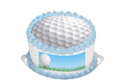 Golf 29cm Inch Round Circular Edible Cake Topper Decoration - Printed on Premium Quality Icing Sheets - With FREE Banner! Suitable for a 30cm cake