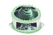 Monsters Inc Sully 29cm Inch Round Circular Edible Cake Topper Decoration - Printed on Premium Quality Icing Sheets - With FREE Banner! Suitable for a 30cm cake
