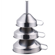 AIHOMETM Professional Kitchen Funnel 3-Piece Stainless Steel Funnel Set For Oil wine
