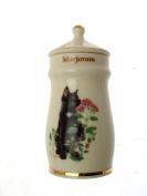 Lesley Anne Ivory Cats Spice Jar Marjoram GB369