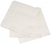 1000 x Food Grade, 38gm Greaseproof paper White Bag. 22cm x 22cm