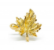 Covink Golden Maple Leaf Cufflinks for the Maple City Acer Leaf Leaves Cuff