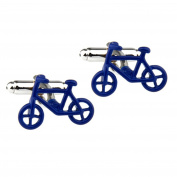Covink Cute Blue Bicycle Bike Rider Cycling Cyclists Cufflinks Men's Office Wedding Party Cuff Button