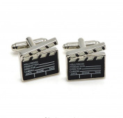 Covink Movie Clapper Board Cufflinks Hollywood Christmas Gift for Movie Director Fans Film-makers Producer