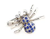 SAMGU Fashion Blue Crystal Spider Cufflinks Mens Novelty Wedding Gifts Colour blue