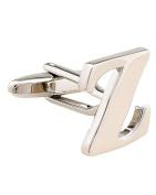 SAMGU Letter Cufflink for male french shirt Wedding Cufflinks Colour silver