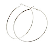 Geralin Gioielli Large Silver Hoop Earrings For Women Fashion Vintage Drop Earrings