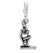 SEXY SPARKLES Women's Microscope Clip On Pendant Charm For Bracelet Or Necklace