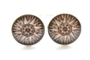 Vintage Design Compass Cufflinks, Antique Style Compass Cufflinks, Travel Cufflinks