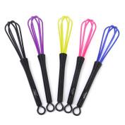 WINOMO 5pcs Kitchen Craft Plastic Wire Hand Whisk