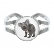 Koala Design Silver Plated Adjustable Ring in Gift Box