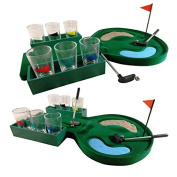 19 Hole Mini Golf Drinking Game Glasses Shots Putter Adults Drink Party Fun Play