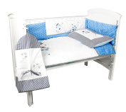 Lunar Sands 5 Piece Blue Baby Bedding Set for boys - ideal for cot or crib