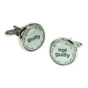 Guilty / Not Guilty Design Cufflinks in Gift Box Judge Lawyer - Onyx-Art London CK525