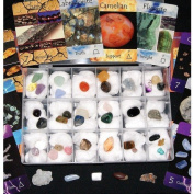 Gifts and Guidance Crystal Therapy Cards' Collection Kit 40 Specimens In Storage Case