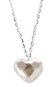 Ana Morales Ladies 'Necklace 925 Sterling Silver Pendant with Silver Chain 47 cm and Exclusive Crystals