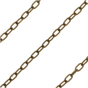 Vintaj Natural Brass 3x2mm Delicate Oval Cable Chain - Sold By The Foot