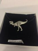 Tyranosaurus Rex PP-G16 Dinosaur English Pewter on a Black Cord Necklace Handmade 41CM