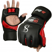 Auth. Rex Leather MMA Grappling Gloves Boxing Punch Bag UFC Gel Tech Muay Thai G