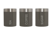 Premier Housewares Liberty Tea, Coffee & Sugar Canisters, Grey