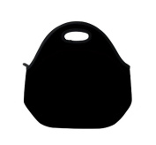 New Fashion Travel Outdoor Cooler Thermal Waterproof Lunch Bag Picnic Tote Box Container Insulated Zip Out Removable School Carry Handle Tote Lunch bag - plain black D-335